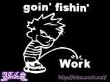 goin' fishin'ステッカー