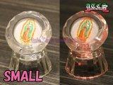 【SALE】クリスタル&LED マリア様置き物【丸型・小タイプ】