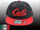 Cali ロゴ 【BLACK&RED】 アジャスタブルCAP