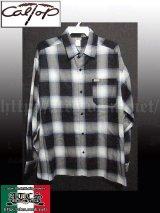 CalTop OGチェック柄長袖シャツ1