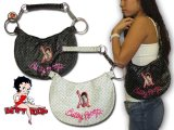 Betty Boop【全2色】ムーン型ハンドバッグ