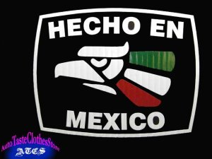 画像1: HECHO EN MEXICO(3カラー)ステッカーS