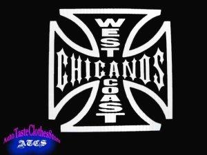 画像1: WEST COAST × CHICANOSステッカー