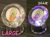 【SALE】クリスタル&LED マリア様置き物【丸型・大タイプ】