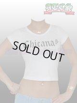 【再入荷】 【BonitaWear】Tシャツ【白】Chicana・バラ