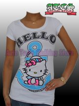 【SALE】HELLO KITTY マリン Tシャツ【ホワイト】