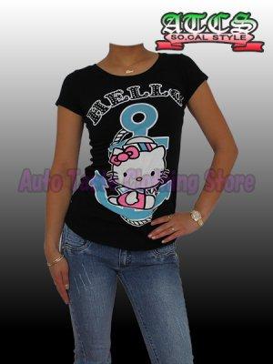 画像4: 【SALE】HELLO KITTY マリン Tシャツ【ブラック】