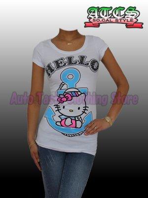画像4: 【SALE】HELLO KITTY マリン Tシャツ【ホワイト】