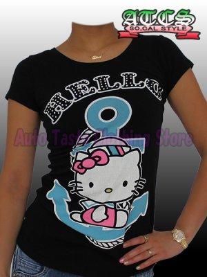 画像5: 【SALE】HELLO KITTY マリン Tシャツ【ブラック】