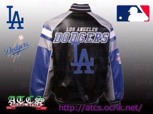 画像3: L.A. Dodgers Post Game Pleather Jacket 1【official】