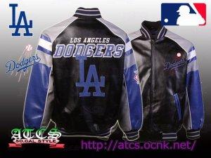 画像1: L.A. Dodgers Post Game Pleather Jacket 1【official】