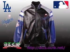 画像2: L.A. Dodgers Post Game Pleather Jacket 1【official】