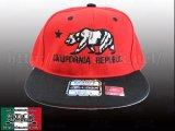 California ベアーデザイン【RED&BLACK】 アジャスタブルCAP