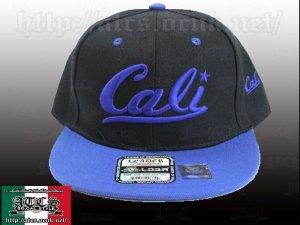 画像1: Cali ロゴ 【BLACK&BLUE】 アジャスタブルCAP