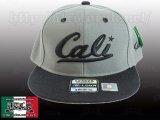 Cali ロゴ 【GLAY&BLACK】 アジャスタブルCAP