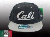 Cali ロゴ 【BLACK&GLAY】 アジャスタブルCAP