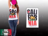 CALIFORNIA レース タンクトップ(ホワイト)