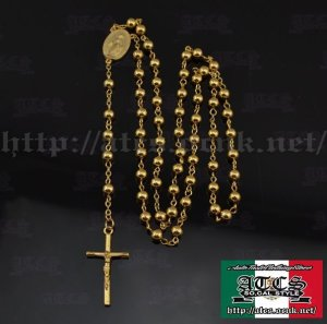 画像1: 【ROSARY】18k gold plated color  ロザリオ2