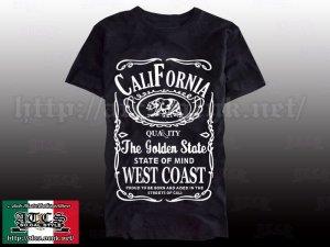画像1: 【SALE】Jack Daniel's風 CALIFORNIA Tシャツ
