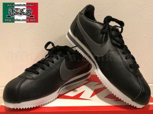 画像1: NIKE CLASSIC CORTEZ LEATHER 黒/グレー