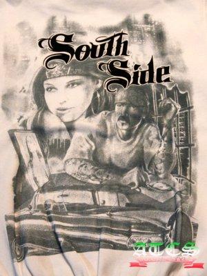 画像4: South Side ローライダー【全2色・全3サイズ】ジップアップパーカー/ジップアップフーディー