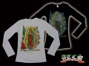 画像1: 【MARIA】Mexicoフラッグ×バラ【全2色】【全3サイズ】ロンT