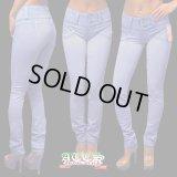 【BEVERLY jeans】マニア大好きデザイン……第1弾……ポケットレス《全6サイズ》超やわらかモレトンスキニーパンツ