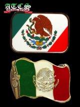 メキシコ国旗バックル【全2タイプ】ベルト付き