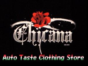 画像2: 【CHICANA】バラ《全2色・全3サイズ》Tシャツ
