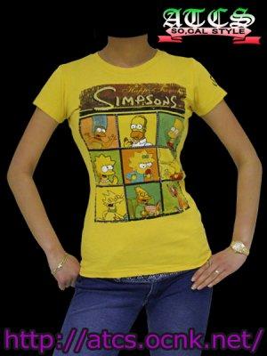 画像2: 【シンプソンズ】Familyデザイン《全2色》Tシャツ