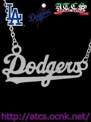 画像2: 【Dodgers】ネームフレームネックレス【OFFICIAL】