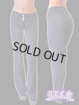 《再入荷》【BEVERLY jeans】モレトンマニアが大好きデザイン★ポケットレス《全6サイズ》超やわらかモレトンフレアパンツ