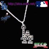 【再入荷】LA【Dodgers】クリスタルロゴネックレス【OFFICIAL】