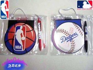 画像1: ★セール★ Dodgers・NBA メモ帳ペン付き(オフィシャル)