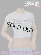 【再入荷】【BONITA WEAR】Latina《ショート丈》Tシャツ《黒文字》