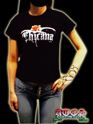 画像1: 【CHICANA】バラ《全2色・全3サイズ》Tシャツ