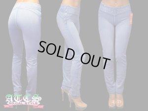 画像1: 【BEVERLY jeans】サイドファスナーがポンント★ポケットレス超やわらかモレトンスキニーパンツ