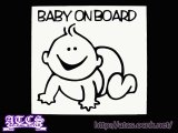 BABY ON BOARDステッカー